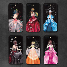IIOZO Luxury Wedding Dress Girl Phone Case For iPhone 7 8 8Plus 7plus Ultra Thin Soft Silicone TPU Black Cover For iPhone 8 Case(China)