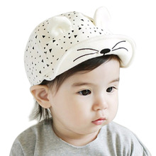 3-24 Months Fashion Baby Beret hat Girls snapback Hats Child Baseball Caps Kid Peaked Hats Infant rabbit Cap Visor Outdoor W1