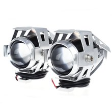 Motorcycle Headlight LED Motorbike Spot Lamp U5 3000LM 125W Upper Low Beam Without Radiation electromagnetic Interference 2pcs