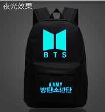 Hot-selling new 2016 fashion Canvas Printing Backpack BTS School Bag Space Shoulder Universe Escolar Bolsas BTS Mochila Backpack(China)