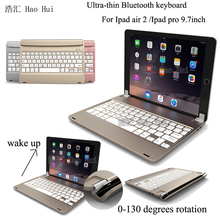 New Wireless Bluetooth 3.0 ABS Keyboard For IPad Air 2 Bracket Style Bluetooth keyboard For IPAD pro 9.7'' English Russian