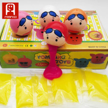 The latest style of swimming cap and girl's vomit egg A spoof toys Safety and green plastic toys