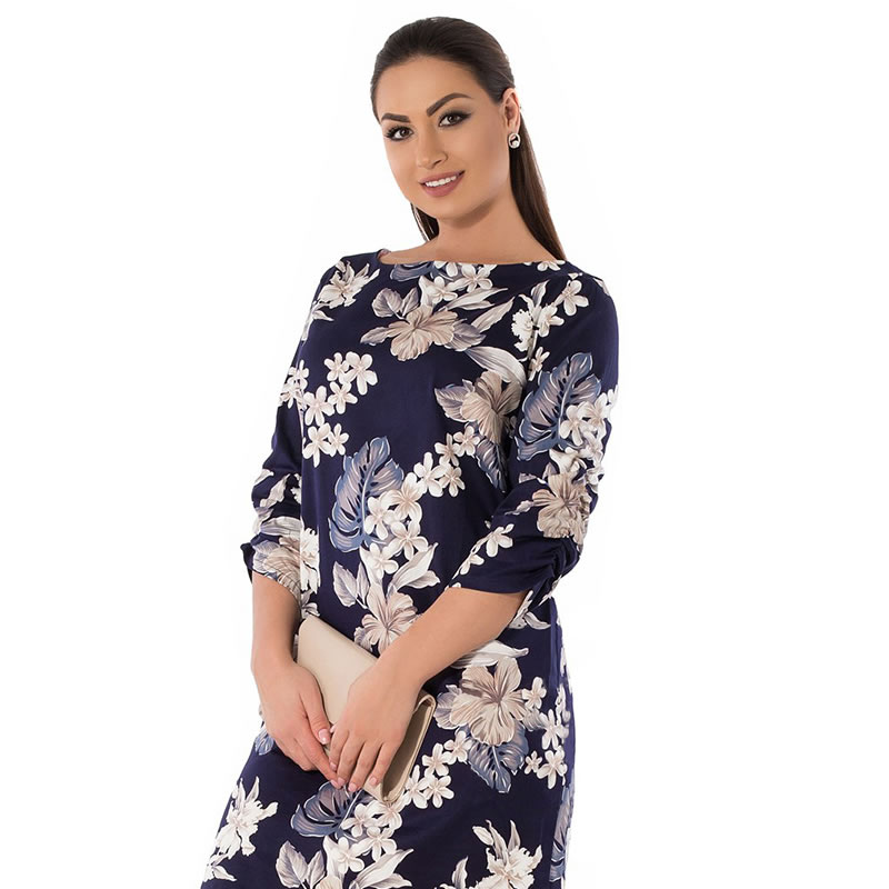 2018 Summer Dress Plus Size Women Clothing Elegant Floral Printed Dress Big Size Office Work Dress 5XL 6XL Party Dress Vestidos 16
