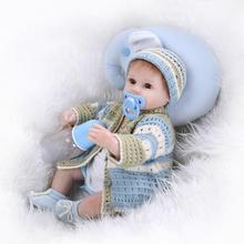 silicone toddler dolls 40cm New Born Baby Dolls Reborn Children Best Gift Silicone Reborn Baby Dollsfor Kids Handmade