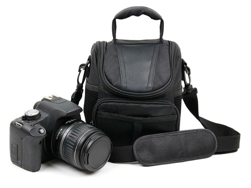 Cámara bandolera caso para Canon EOS 2000D 4000D 250D 6D 5D DSLR 800D Negro