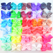 Wholesale 500pcs/lot 4.5*2.8 inch Grosgrain Ribbon Bow Girl Bowknot Pinwheel Hair Accessories Neon Color Available H0264