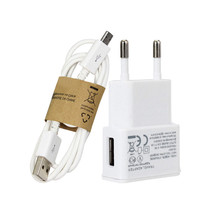 EU plug Wall Charger adapter + Cable Micro USB For Samsung Galaxy s5 s6 S4 I9500 S3 I9300 note 2(China)