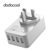 dodocool 20W 4A 4 Ports USB Charger Wall Charger with Surge Protection For iPhone7 Samsung galaxy s6 s7 edge Xiaomi Mi5 4 LG G5