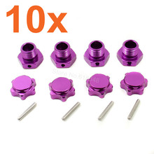 10Sets/lot 1/8 Tires Adapter 17mm Alum Wheel Nut With Pins For 1:8th RC Model Car Baja Parts