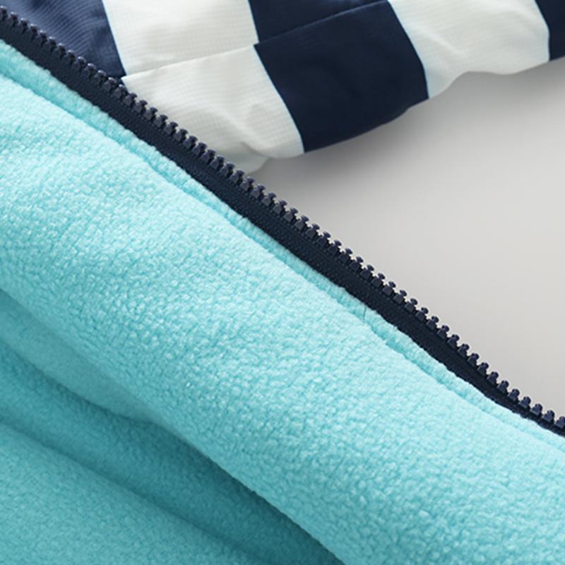 CROAL CHERIE 80-120cm Fashion Star Windproof Striped Jacket For Boys Winter Coat For Girls Children\`s Winter Velvet Clothes (3)