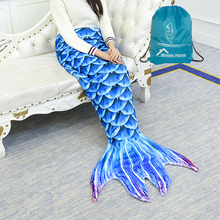 Mermaid Tail Blanket Soft Coral Fleece Blankets Perfect Gift for Kids and Adult in All Seasons Living Room Super Sleeping Bags(China)