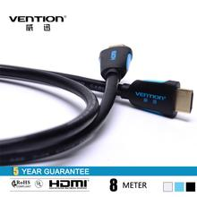 1.4 version hdmi cable 8m black HDMI cable support 3D High grade Oxygen Free Copper Standard 19pin HDMI cable