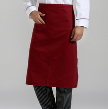 Kitchen Cooking Aprons Work Dining Half-length Long Waist Apron Catering Chefs Hotel Waiters Uniform Aprons