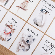 30pcs/box cute zoo is in sight pig koala animal diy postcard message paper gift card post it school supply bookmark big size(China)
