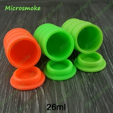 26ml large Non Stick Silicone Oil Drum Barrel Containers Dab Jar FDA Approval Bho Slick Oil Wax Storage Container 20pcs by DHL