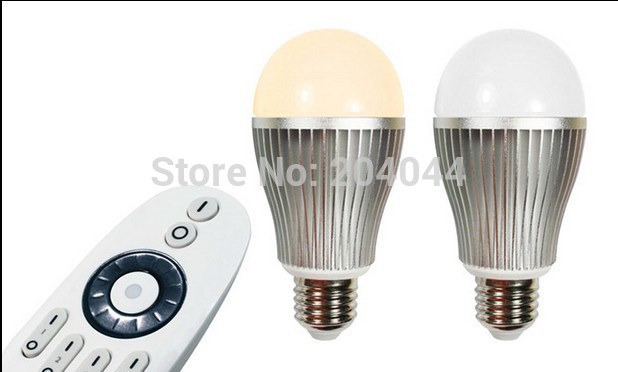 2015 Lampada De Led Free Shipping 4pcs/lot Adjust Brightness And Color Temperature Led Bulb With 2.4g Remote Ac 85-265v Light<br><br>Aliexpress