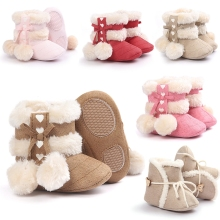 New Kids Baby Girls Warm Winter Shoes Boots Newborn Toddler Infant Keep Warm Non Slip Booties Prewalker Shoes Bebe Warming Boots