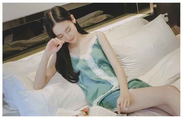KOWELL 2018 New Women's Elegant Chemise De Nuit Ladies Casual Pajama Set Girls Cheap Bathrobe Mujer Camisola Sexy Lingerie Badja
