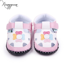 Fancy Leather Handmade Hard Sole Baby Girls Toddler Flower Animal Pattern Baby Casual Shoes For 0-15 Months(China)
