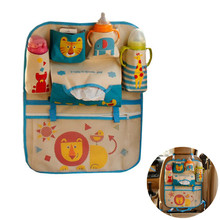 Cartoon Car Seat Back Storage Hang Bag Organizer Car-styling Baby Product Varia Stowing Tidying Automobiles Interior Accessorie