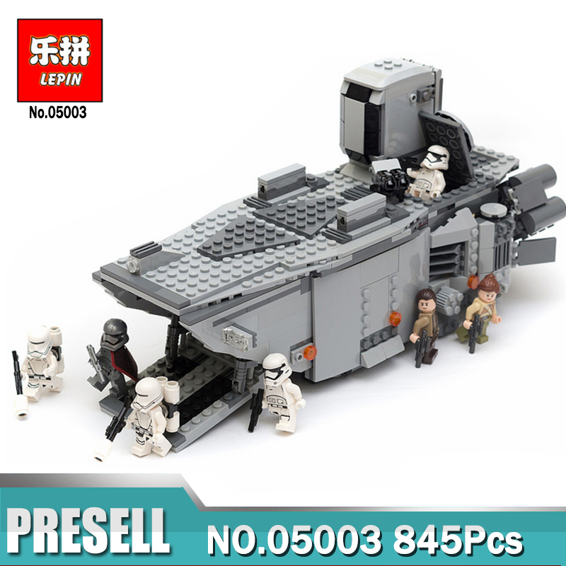 LEPIN 05003 845Pcs Star Plan First Order Transporter assembled building block Bricks Compatible With LegoINGlys 75103<br>