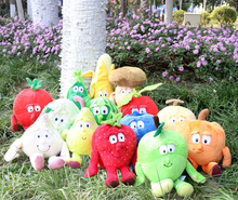 "New Fruits Vegetables cauliflower Mushroom blueberry Starwberry 9"" Soft Plush Doll Toy(China)"