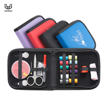 luluhut portable mini traveling sewing kits bag with color needle threads scissor pin sewing set outdoor household sewing tools(China)