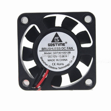 5PCS Gdstime DC 12V 2Pin 4010 4cm 40 x 10mm 40mm Mini Cooling Cooler Ventilation Fan 9 Blades