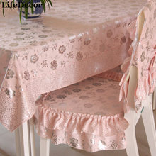 Luxury simple european tablecloth dining table cloth table linen cushion chair covers set(China)