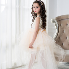 Eleghant Formal Girls Dress Wedding Princess Layers Fancy Flower Girl Vestido 2017 Gilrs Clothes 3 4 6 8 10 12 Years RKF174014(China)