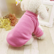 Winter Thick pet cat dogs clothes Jacket Round Neck warm soft Puppy Coat Apparel Unisex Small Puppy kitten wearing Costume sale(China)