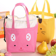 Portable Canvas Picnic Bags,Launch Box,Insulated Thermal Food Bag,Bolsa Termica,Cute Cooler Lunch Backpack Tote 3 Solid Colors(China)