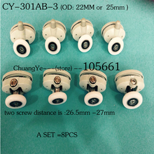(A SET of  8pcs )Nylon shower door roller CY-301AB-3