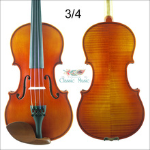 1715 Stradivarius Model Violin No.1643, Siberian Spruce,3/4 Size, Aubert Bridge,Antique Violin,Advanced Level,Powerful rich tone