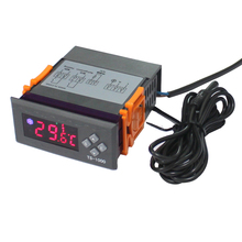 AC110-240V Mini Digital LED Display Temperature Controller Thermostat Aquarium with Sensor for Fahrenheit and Celsius Display