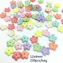 Meideheng Acrylic Beads cute Five petal florets Candy Color Beads For kids Jewelry Making Headgear accessories 12x4mm 230pcs/bag(China)