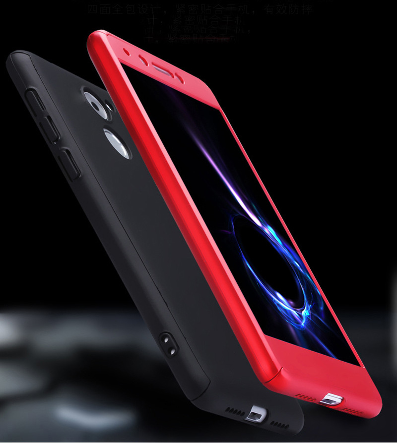 360 Full Cover Case for Huawei P9 Lite Mini Case Phone Back Cover Funda with Tempered Glass P9 Lite Mini