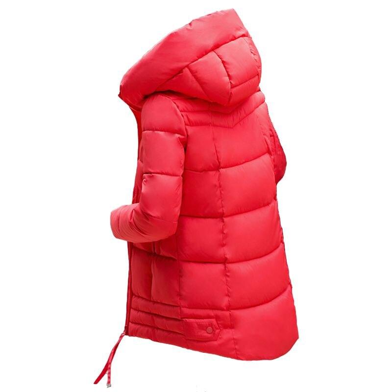 Latest Winter Fashion Women Parkas Hooded Thickening Super warm Medium long Coat Irregular Slim Big yards Cotton Jacket YD16Îäåæäà è àêñåññóàðû<br><br>