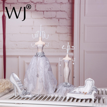 Wedding Bridal Jewelry Display Stand Princess Choker Bracelet Ring Holder Joyero Organizador for Jewellery Shop Decoration Cases