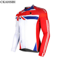 CKAHSBI 2017 Thermal Cycling Jacket Autumn Long Sleeve Warm Up Bicycle Clothing Windproof Waterproof Sport Coat MTB Bike Jersey