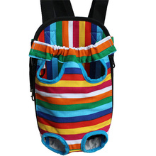 Inexpensive Unique Hot selling Pet Dog Carrier Bag Backpack Front Pack Samll Travel Legs Out Blue Pink(China)