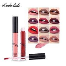 KADALADO Hot Fashion Waterproof Matte Lipstick Long Lasting Liquid Lipstick Lip Gloss Lipgloss Lip Tint Kit Makeup 24 Colors(China)