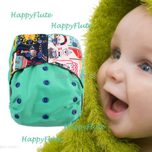 HappyFlute 1 pcs baby cloth AIO sleepy diaper fit baby 8-38 pounds(China)