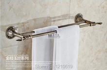 Retro Euro Style Antique Brass Bathroom Bath Towel Bars Dual Bars Wall Mounted