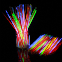100pcs Multi Color Fun Glow Fluorescence Stick Bracelets Neon Bright LED Toy Light For Xmas Party Event Decoration