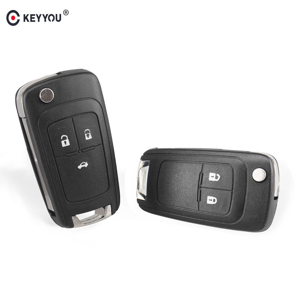 uxcell 3 Buttons Flip Folding Smart Key Fob Remote Case for Vauxhall Vectra Astra