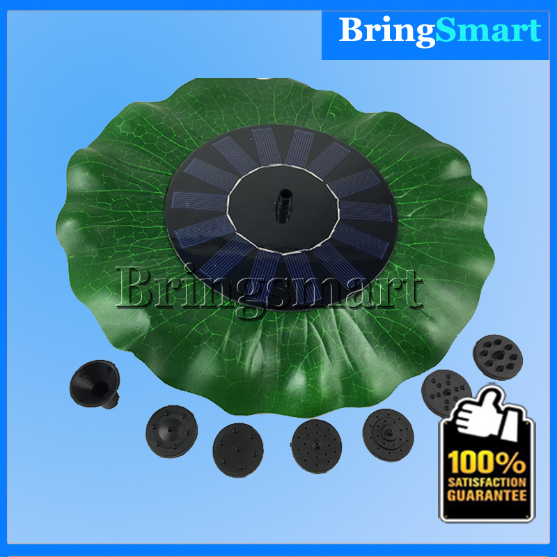 Free shipping JT-160F1HY38 200L/H Mini DC Pump Brushless Solar Water Pump Landscape Fountain Floating Pump with Lotus Leaf<br><br>Aliexpress