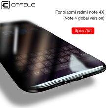 CAFELE 3pcs Tempered Glass Xiaomi Redmi Note 4X 4 Global Version Screen Protector 9H HD Protective Film Redmi Note 4X
