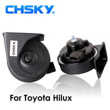 CHSKY Car Horn Snail type Horn For Toyota Hilux 2004 to NOW 12V Loudness 110-129db Auto Horn Long Life Time High Low Klaxon(China)