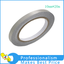 Hot 1*10mm* 20 meters Silver Single Sided Sticky Conductive Fabric Cloth Tape for Remote Controller Repair Cable EMI Shielding